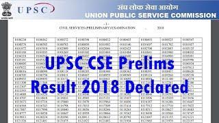 UPSC CSE Prelims Result 2018 Declared | ऐसे चेक करें अपना UPSC Prelims का Result