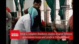 Two woman injured in protest against civilians Killings at Trehgam in Kupwara