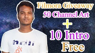 How To Get Free 50 YouTube Banner + 10 Intro For Filmora