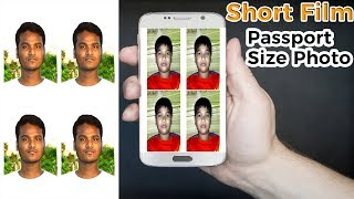 How to Create Passport Size Photo at Home By Mobile as Like Studio (1 Minutes)