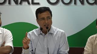 AICC Press Briefing By Randeep Singh Surjewala at Congress HQ on PM Modi's West Bengal Rally