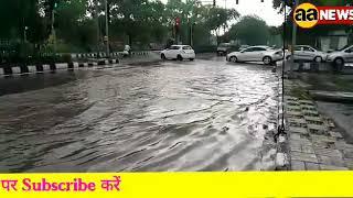 दिल्ली में झमाझम बारिस जारी | पीतमपुरा - मंगोलपुरी रोड़ का नजारा देखें #raining at dilli
