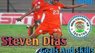 Steven Dias ||Indian Footballer|| Goals and Skills