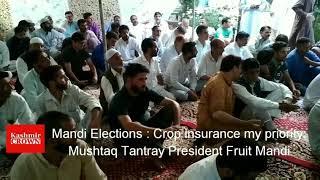 Mandi Elections : Crop insurance my priority:Mushtaq Tantray President Fruit Mandi