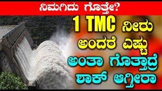 1 TMC ನೀರು ಅಂದರೆ ಎಷ್ಟು ಅಂತಾ ಗೊತ್ತಾದ್ರೆ ಶಾಕ್ ಆಗ್ತೀರಾ | Kannada Unknown Facts