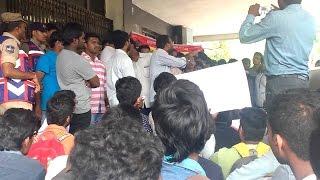 JNTU Hyderabad | students Protest At Gandhi Bhavan | JNTU Credits issue