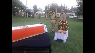 Wreath laying ceremony for martyred Policeman held at DPL Pulwama