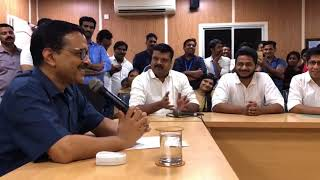 Delhi CM Arvind Kejriwal met & addressed the delegates from United Nurses Association