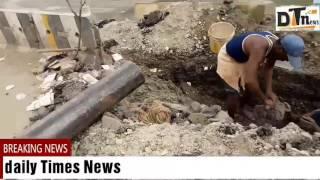 Drainage Supply Hits Main Water Supply at Bahadupura | People Supports GHMC- DT News