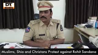 Protest Against Rohit Sandana | Hurting Relegious Sentiments of Muslims Shia and Christans -DT News