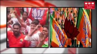 BJYM voilent protest in telangana  HD | The News India | 14-11-2016