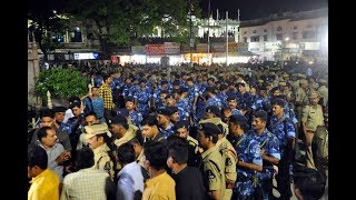 Heavy Security Deployed in Hyderabad | 20,000 Security Personal's Deployed