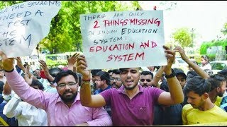 CBSE paper leak: Students stage protest; high security outside Javadekar residence