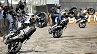 Awesome Stunts on BMW G310R & G310GS at the Launch Event.