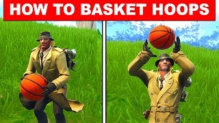 """How to Score Hoops """"Score a basket on different hoops"""" Fortnite Season 5 Week 2 Challenges"""
