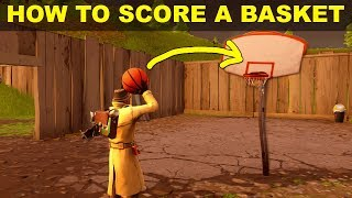 HOW TO SCORE A BASKET ON DIFFERENT HOOPS - Fortnite Season 5 Week 2 CHALLENGES