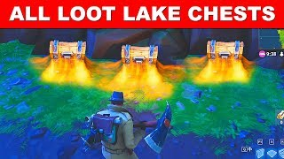 Search Chests in Loot Lake - Fortnite Season 5 Week 2 Challenges - All 7 Chest Locations