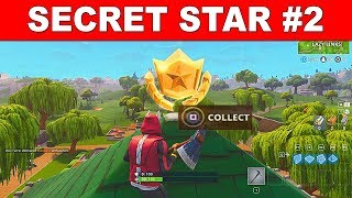 Fortnite Week 2 SECRET BATTLE STAR Location  - Fortnite Season 5 Secret Star (Road Trip Challenges)