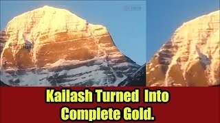Viral Sach: Mystery of Mount Kailash's peak turning Gold unveiled