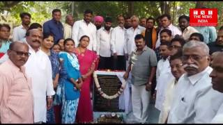 Telangana minister T.srinivas inaugrated CC road