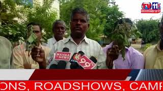 FARMERS CONDUCT RASTHA ROKO AGAINST FAKE SEEDS  IN KAJARLA , PATANCHERU