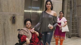Janhvi Kapoor WATCHES Dhadak With Sridevi's Mother | Janhvi With Grandmother