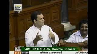 Speech of Rahul Gandhi # Loksabha TV# Rahul Hugs to PM Modi
