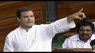 Congress President Rahul Gandhi Speaks in Lok Sabha on No-Confidence Motion