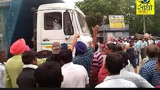देश भर में 92 हजार ट्रक हड़ताल पर ट्रांसपोर्टर्स का चक्का जाम