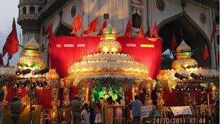 हैदराबाद के चार मीनार  भाग्यलक्ष्मी मन्दिर मे  आज हवन और पूजन शाम 7 बजे होगा  भोग भी लगाया जायगा