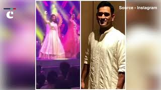 MS Dhoni's wife Sakshi Dhoni did a fabulous dance moves in best friend's marriage