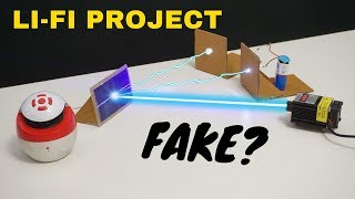 Is it Fake? Li-Fi project | How to transmit data with light | Best School science project
