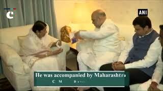 BJP's Sampark for Samarthan: Amit Shah meets singer Lata Mangeshkar