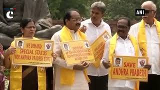 TDP MPs protest in Parliament over special status