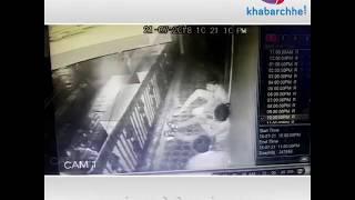 Incidence of theft in Surat varachha area caught in CCTV camera