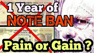 One year of Demonetisation| Success or Failure?
