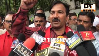 CPI DHARNA AT MRO OFFICE FALAKNUMA | Says KCR a liar | Telling lies over and over | DT News