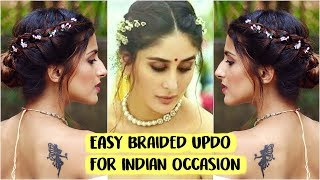 5 MIN EASY Kareena Kapoor Bun Hairstyle for Wedding | Party | Sangeet | Quick Indian Hairstyles