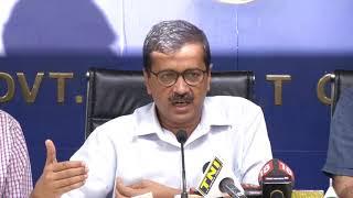 Delhi CM Arvind Kejriwal Briefs Media After the Cabinet Meeting Held in Delhi Sect