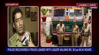 Udhampur Police recovers stolen truck loaded with IMF liquor