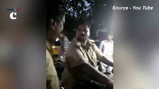 Drunken Coimbatore cop rides bike without helmet stopped by public, suspended