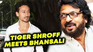 Tiger Shroff Spotted At Sanjay Leela Bhansali's Office In Juhu