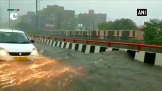 After heavy rainfall, newly constructed Raj Nagar Extension elevated road gets waterlogged