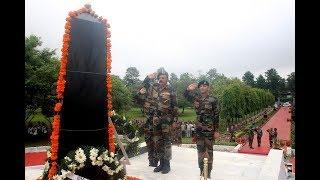 Kargil Vijay Diwas: GOC Rising Star Corps, GOC Tiger Division lay wreath at 'Balidan Stambh'