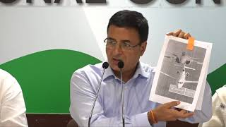 Rafale Deal Scam: AICC Press Briefing by Randeep Singh Surjewala at Congress HQ