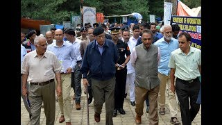 J&K Governor visits Nunwan base camp as number of Amarnath yatris decline