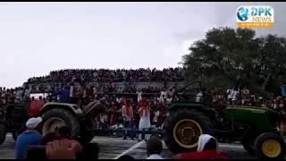 LIVE VIDEO - पदमपुर में ट्रैक्टर प्रतियोगिता के दौरान गिरा शेड , 100 से ज्यादा घायल