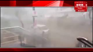 [HYDERABAD]/Rains of rain accompanied by strong winds in Hyderabad, water filled in low lying areas