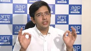 """AAP Leader Raghav Chadha Says """" How can BJP & Congress oppose the Scheme of CCTV Camera's ?"""""""