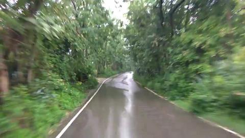 Drive through rain